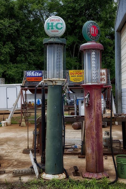 Gas Pumps, Antiques, Alabama, Petrol, Station, Historic