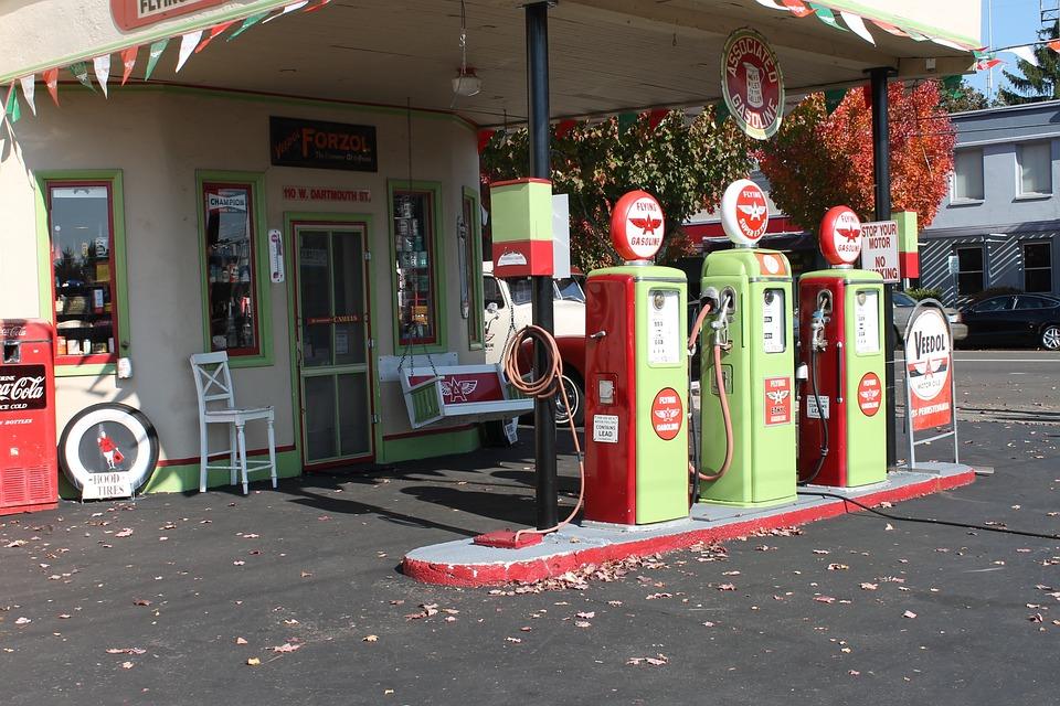 Gas Station, Vintage, Gasoline, Fuel, Petrol
