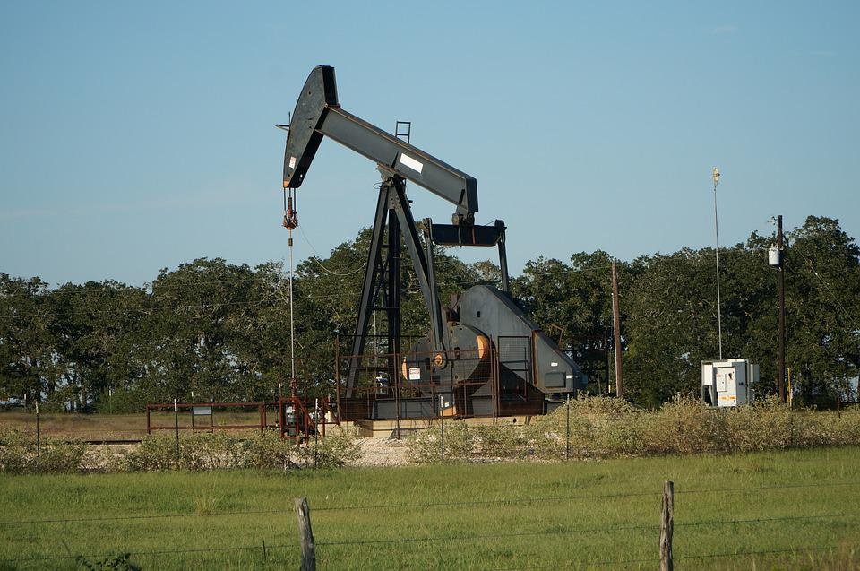 Industry, Outdoors, Sky, Oil Well, Petroleum, Field