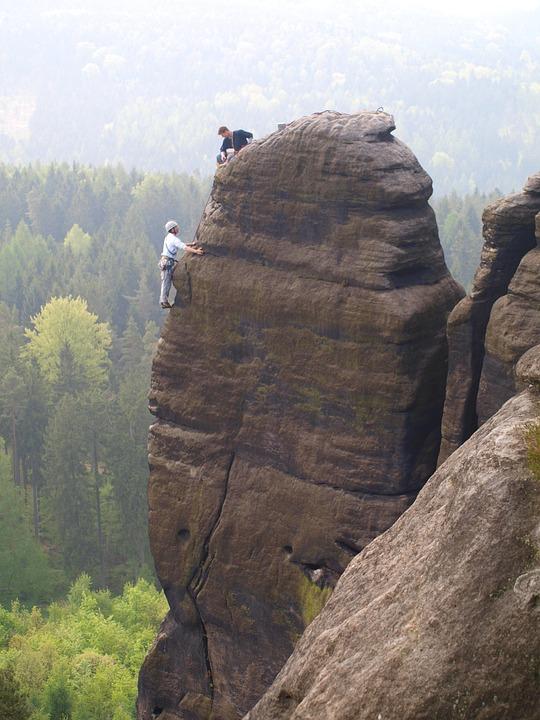 Elbe Sandstone Mountains, Pfaffenstein, Mountaineer