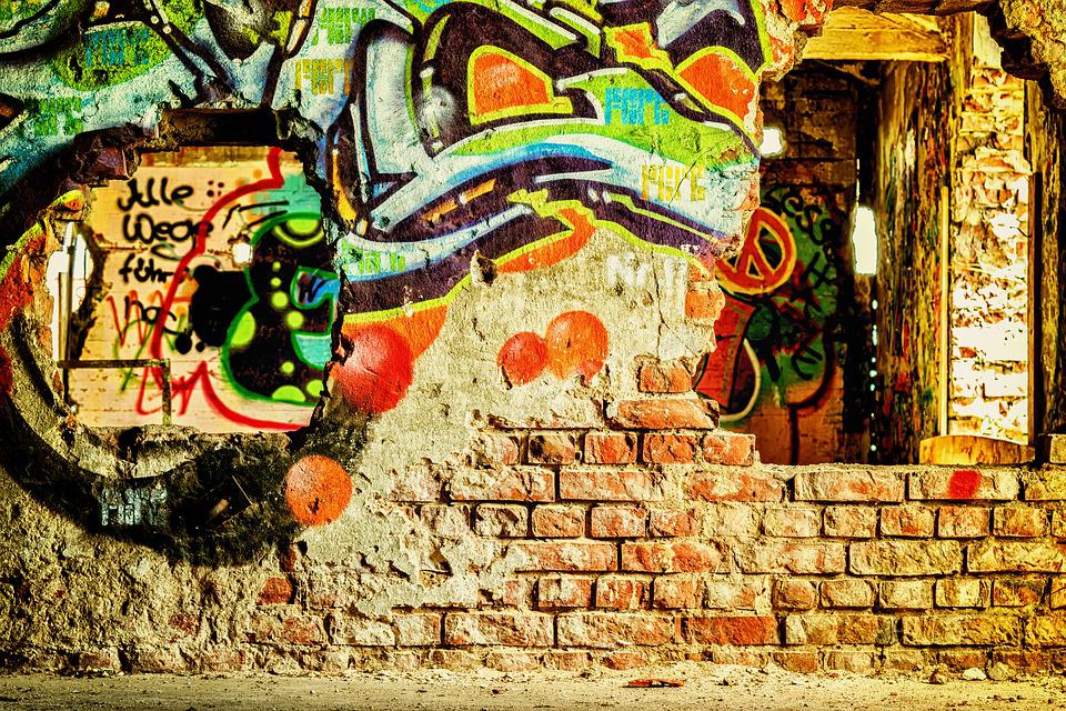Free photo Pforphoto Leave Lost Places Brick Old Wall - Max Pixel