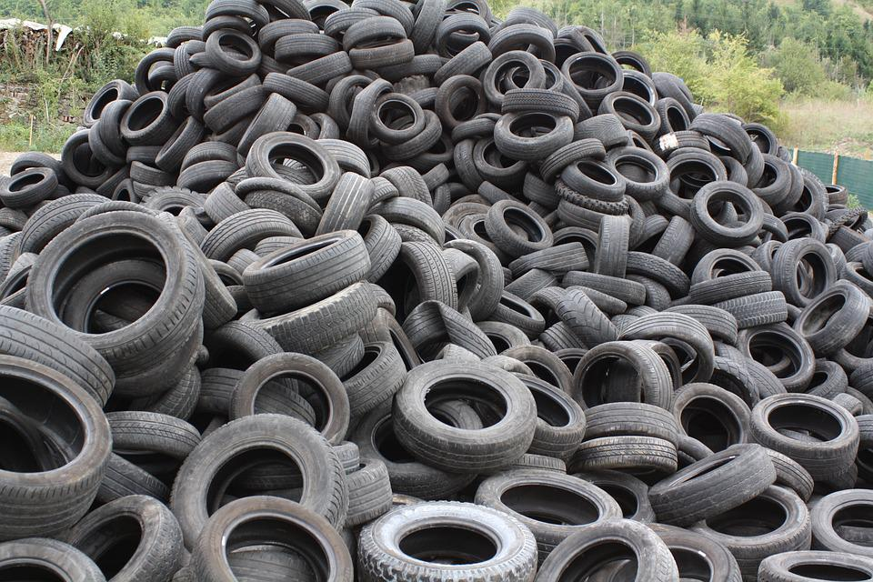 Tires, Used Tires, Pfu, Garbage, Recycling