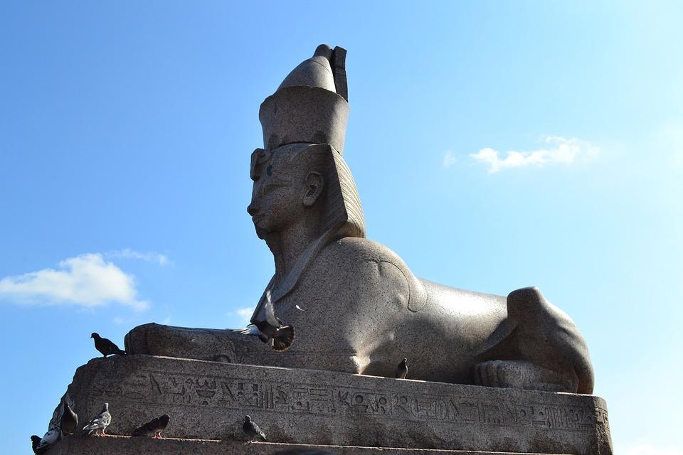 Sphinx, St Petersburg, Russia, Pharaoh, Hieroglyphs