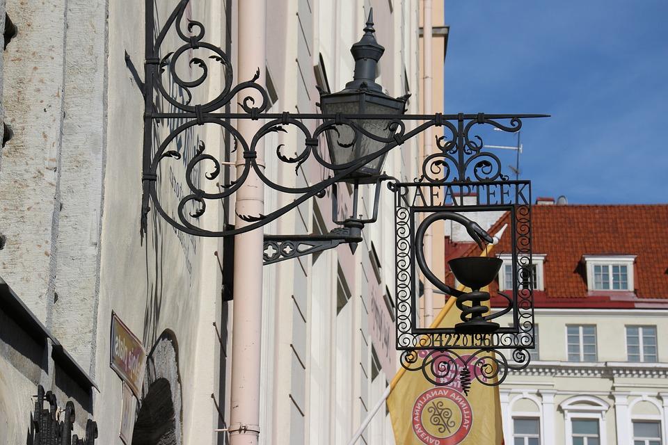 Pharmacy, Shield, Old, Tallinn, Note, Pharmacy Sign