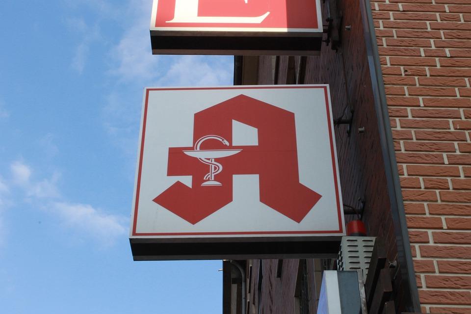 Pharmacy, Shield, Logo, Pharmacy Sign
