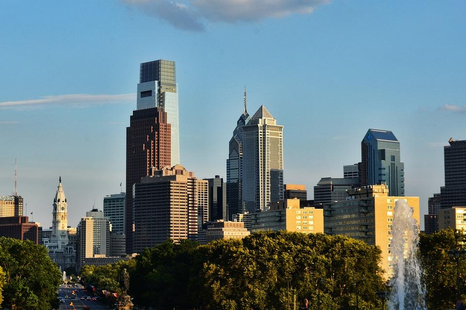 Philadelphia, City, Urban, Buildings, Cities, Cityscape
