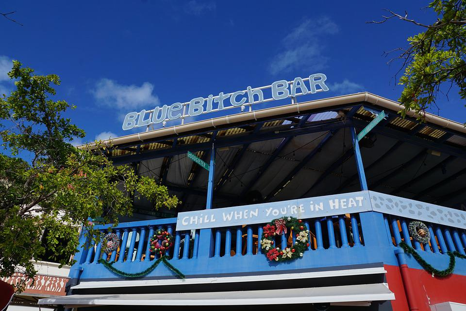 St Maarten, Philipsburg, Caribbean, Bar