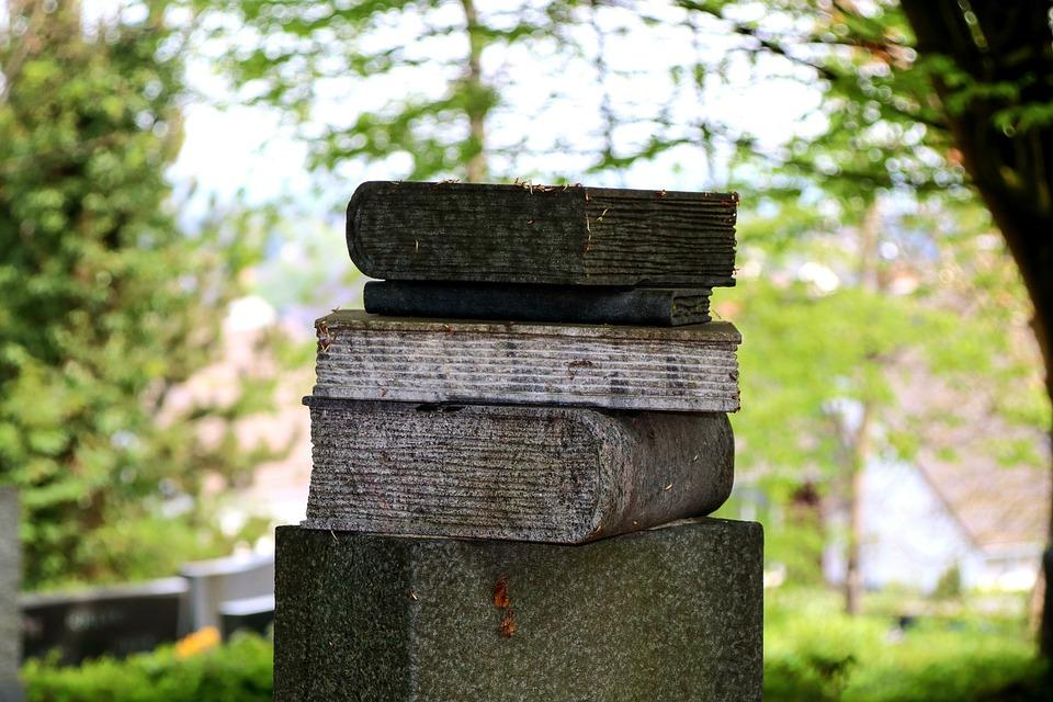 Tombstone, Books, Stone, Grave, Cemetery, Philosopher