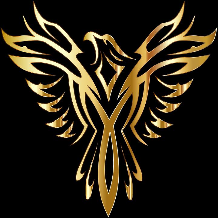 Phoenix, Bird, Legendary, Mythical, Fictional, Line Art