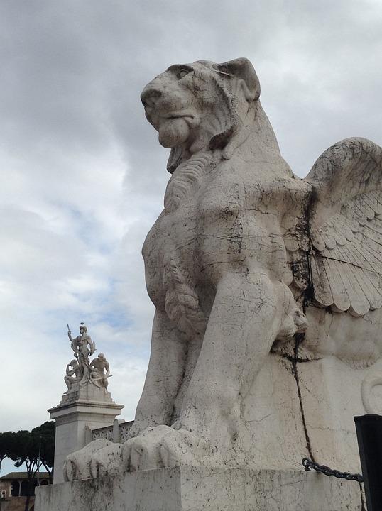 Rome, Statue, Phoenix