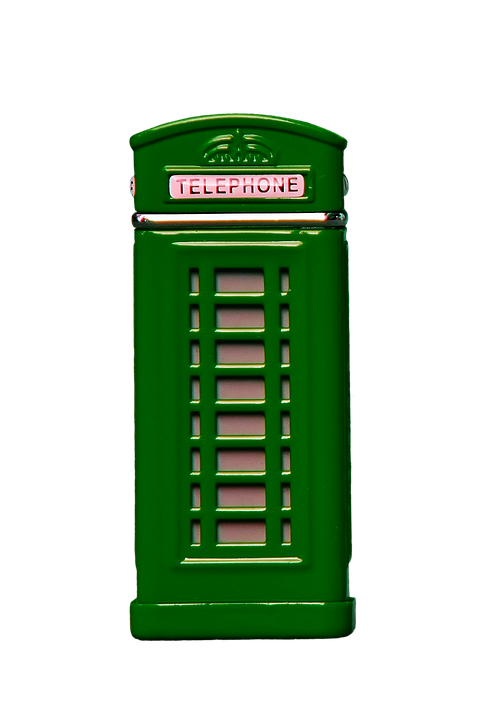 Phone Booth, Green, Phone, Telephone, Communication