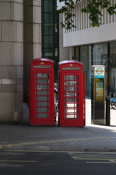 London, Phone Booth, Historically, Red, City, England