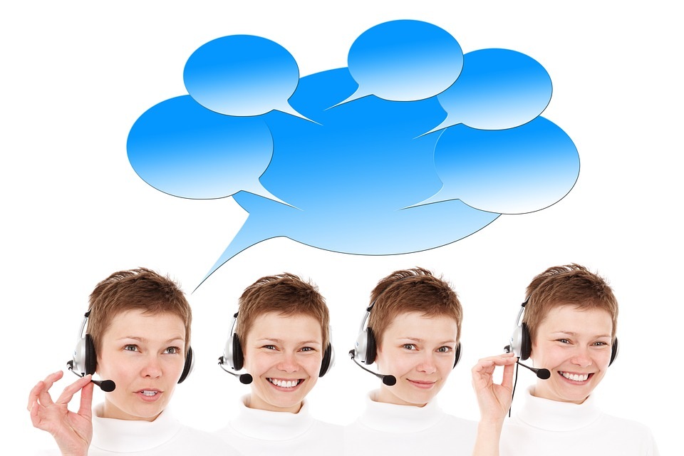 Service, Woman, Headset, Help, Support, Phone