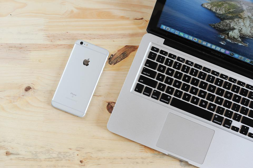 Laptop, Mobile Phone, Table, Phone, Iphone, Macbook