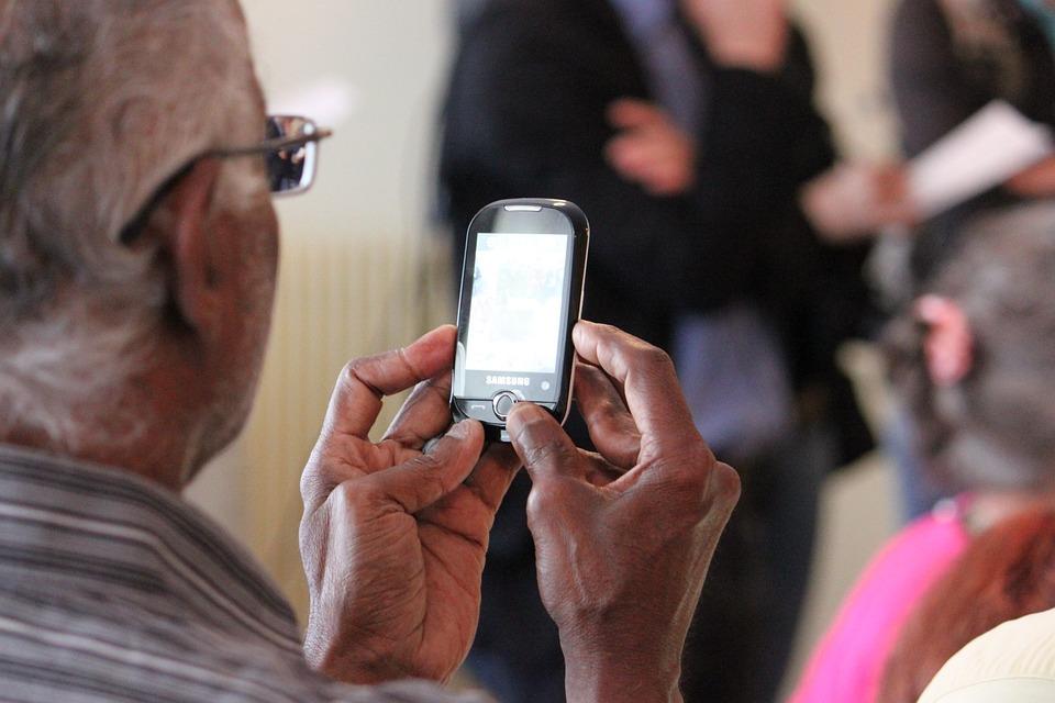 Technology, Senior, Old, Man, Phone