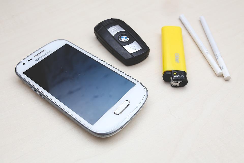 Phone, Mobile, Smartphone, Screen, Car Key, Lighter