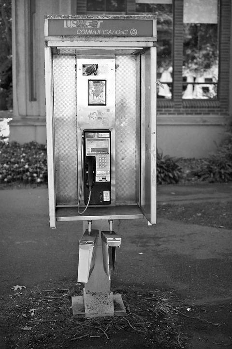 Phone Booth, Payphone, Telephone, Phone, Call