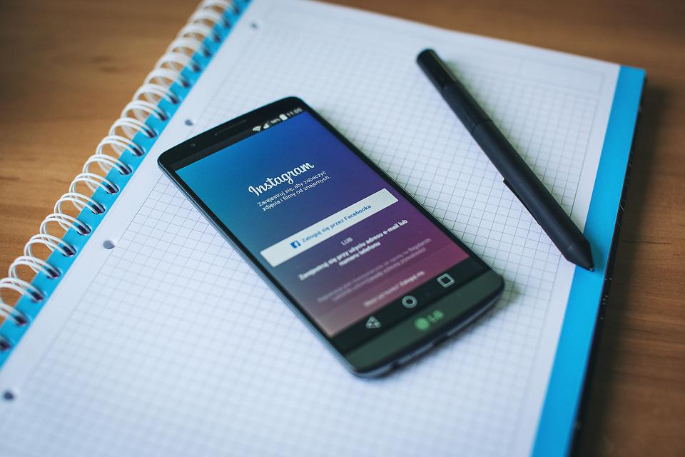 Phone, Instagram, Work Desk