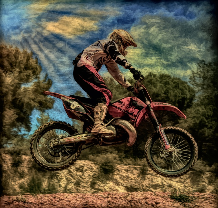 Art, Photo Art, Painting, Motorcycle, Stunt, Jump