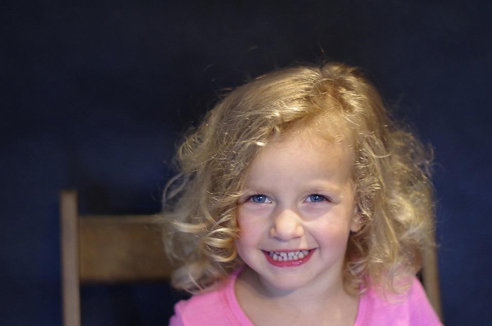 The Little Girl, Photo, Blonde, Blue Eyes