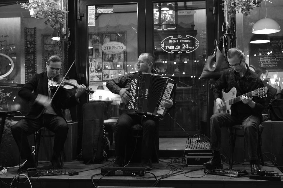 Musicians, Bw, Photo, Accordion, Live Music