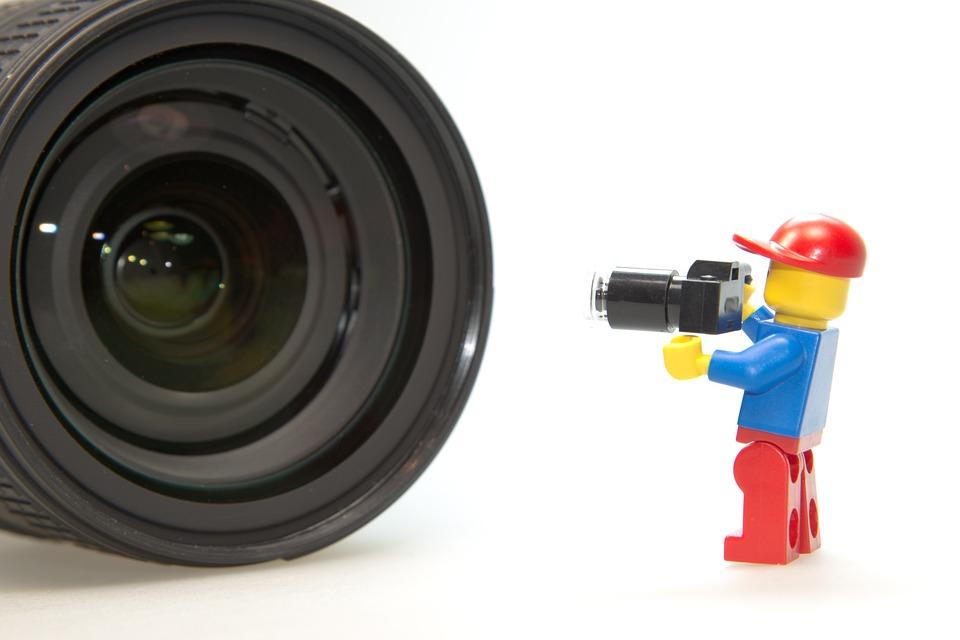 Photographer, Lens, Lego, Photo, Photo Studio
