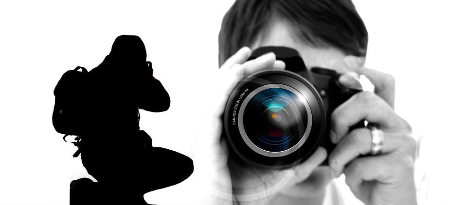 Photography, Photograph, Woman, Man, Camera