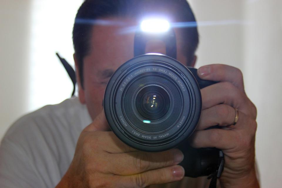 Photograph, Photographer, Canon, Eos, Mirror, Flash