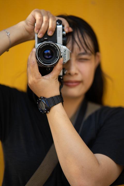 Photographer, Girl, Photography, Camera, Shoot, Film