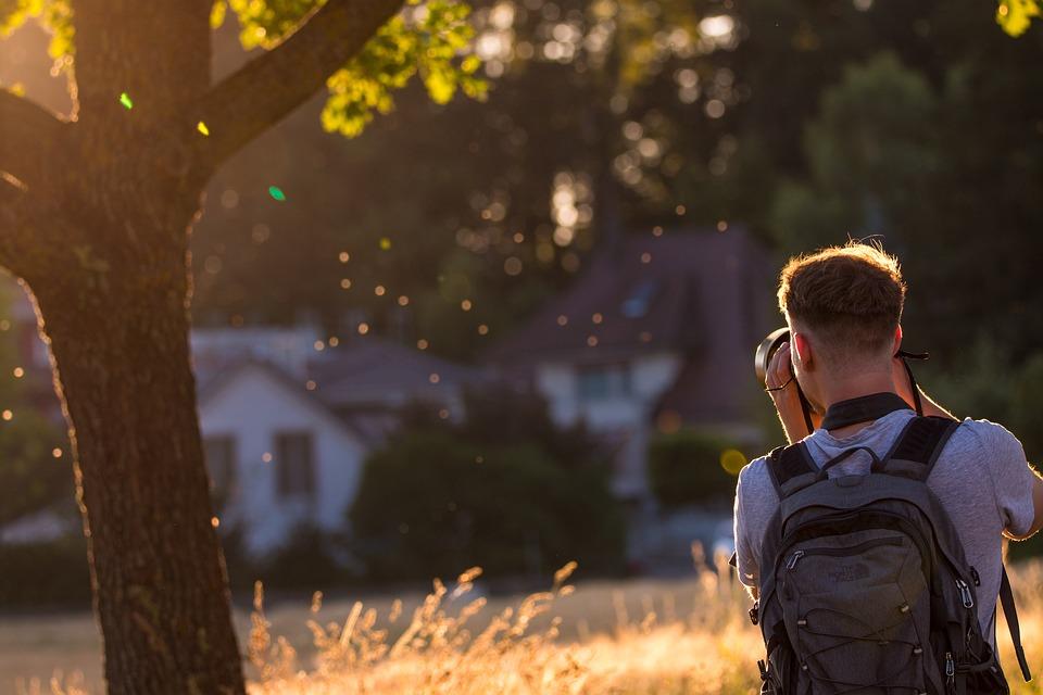 Photographer, Back Light, Evening Light, Mosquitoes