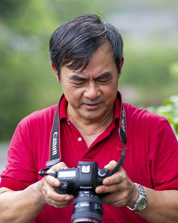 Man, Camera, Equipment, Photographer, Expression