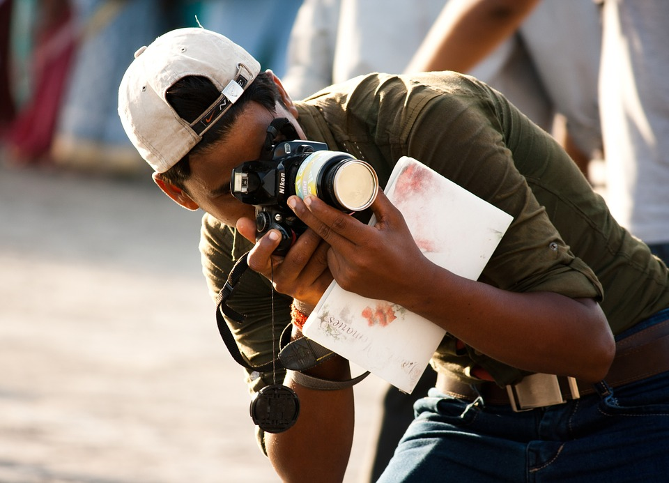 Photographer, Camera, Taking Pictures, India, Indian