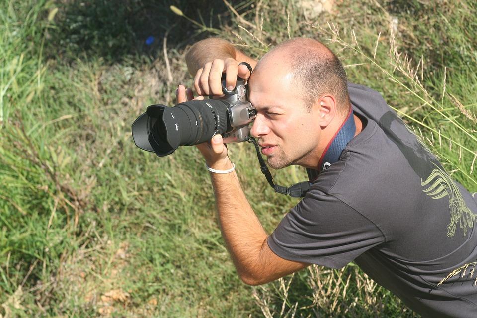 Photographer, Machine, Lens, Photo, Camera