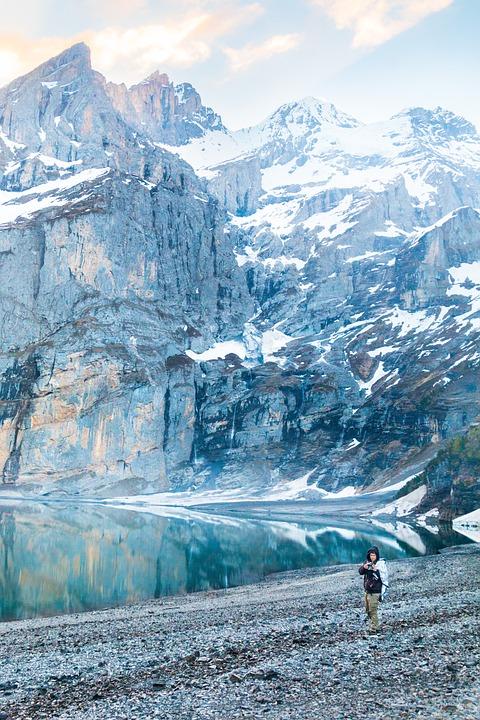 Photographer, Switzerland, Mountains, Bergsee
