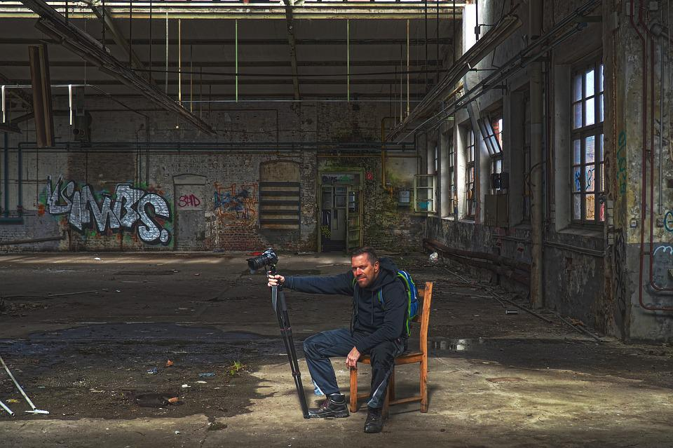 Human, Man, Photographer, Portrait, Sit, Rest, Chair