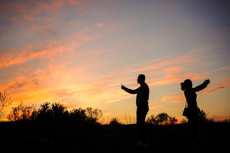 Sunset, Travel, Photographer, Taking Pictures, Girl