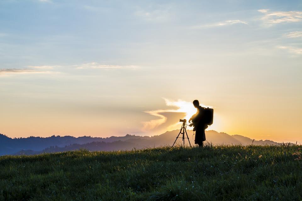 Photography, Photographer, Back Light, Sun, Twilight