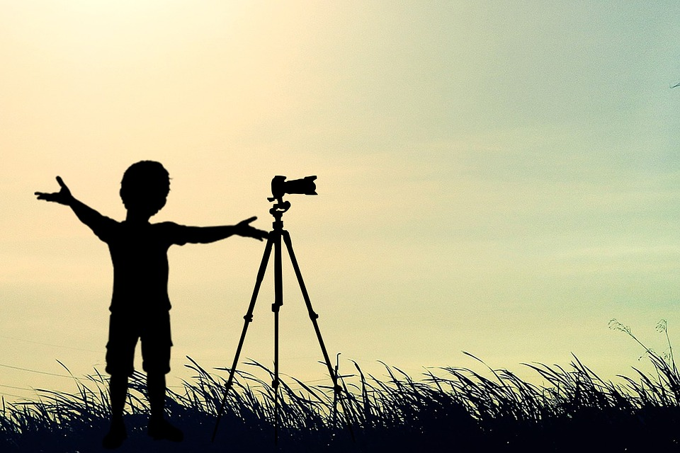 Filming, Child, Silhouette, Photography, Children