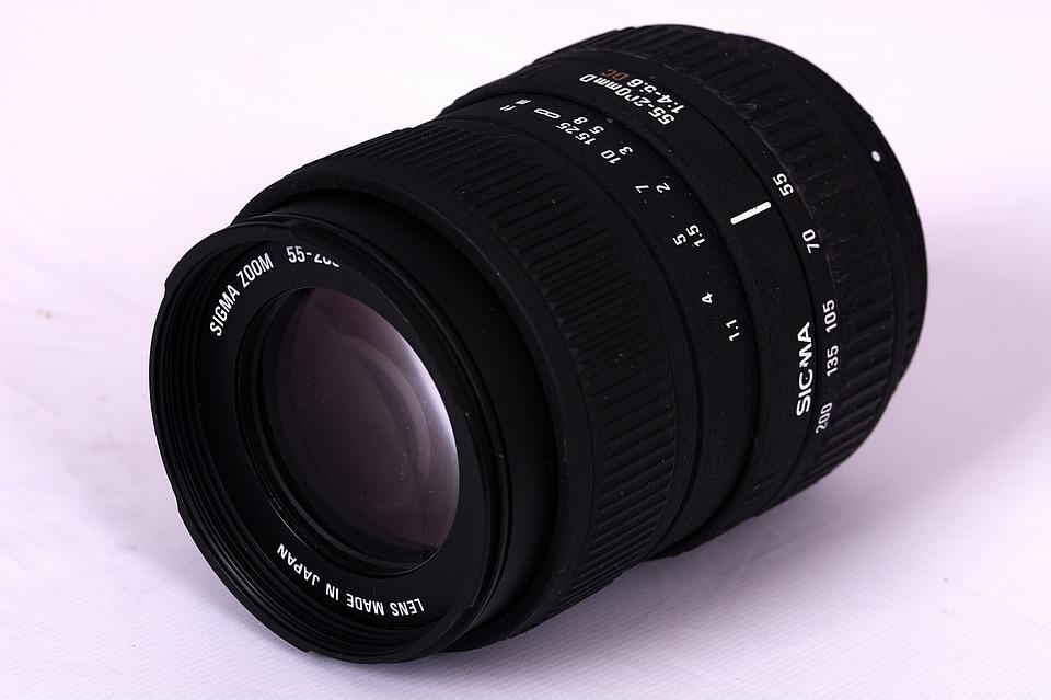 Photography, Black, Lens, Zoom, 55-200, Film, Equipment