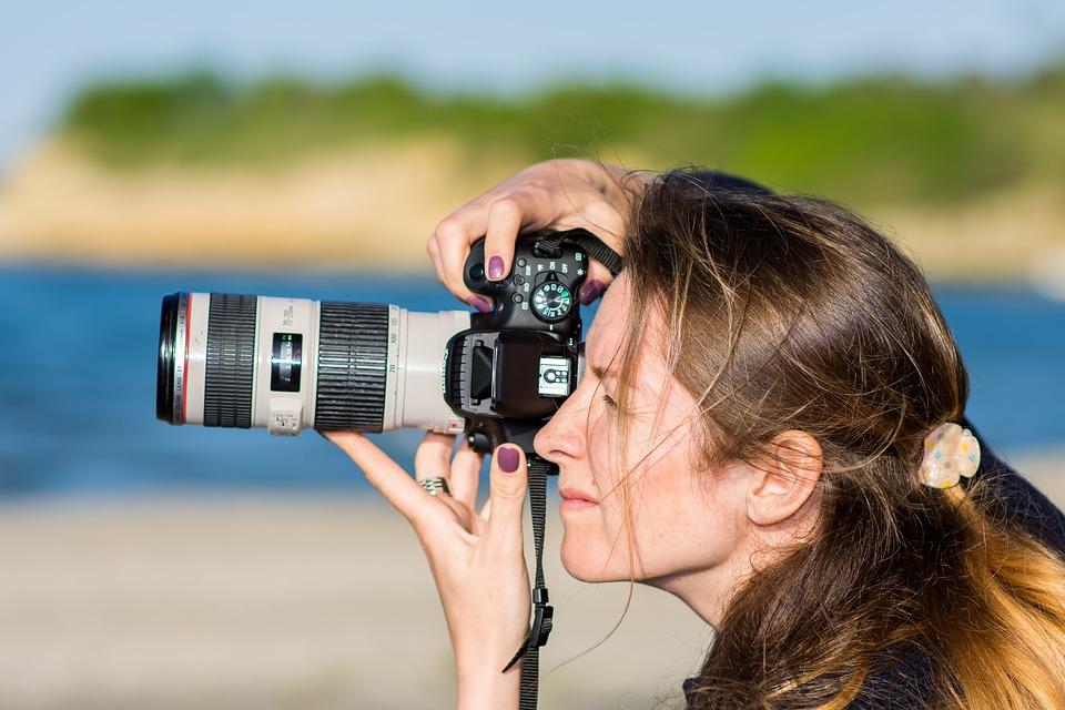 Lens, Woman, Photography, Canon, Photographer, Hobby