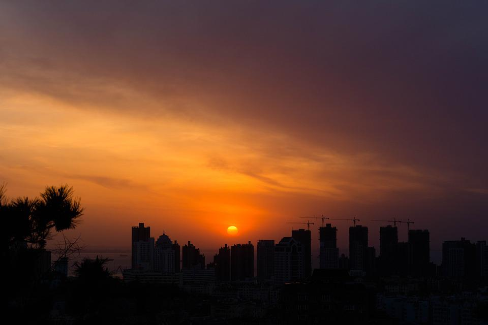 Sunset, Scenery, Photography, Views, City, Sky