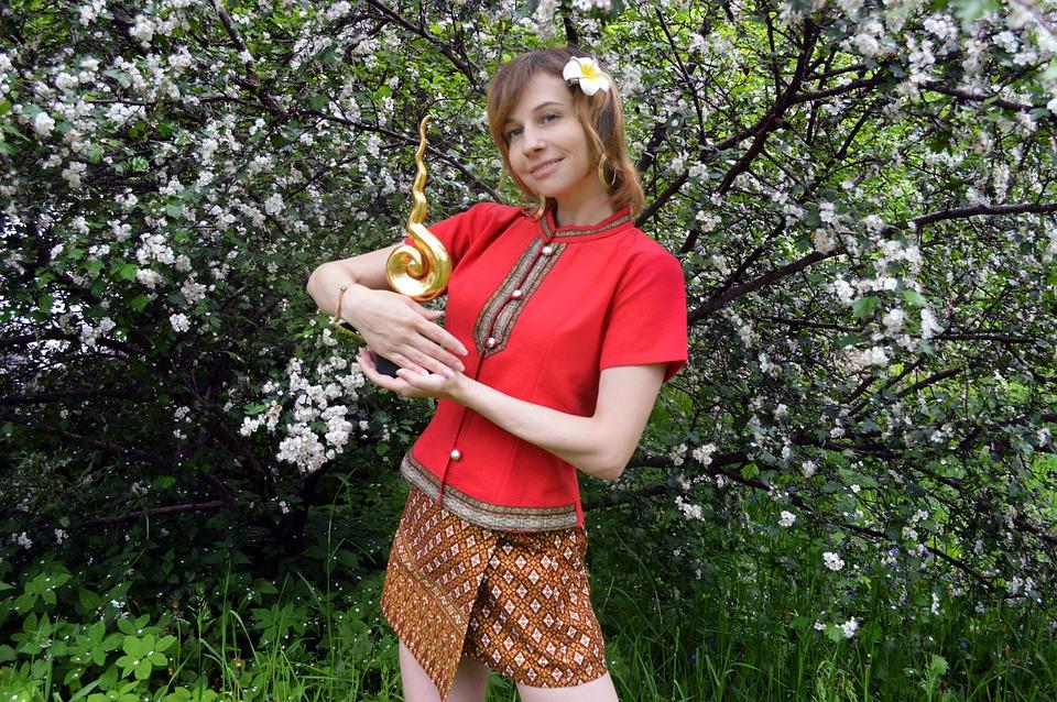 Thailand, Folk Costume, Woman, Photoshoot