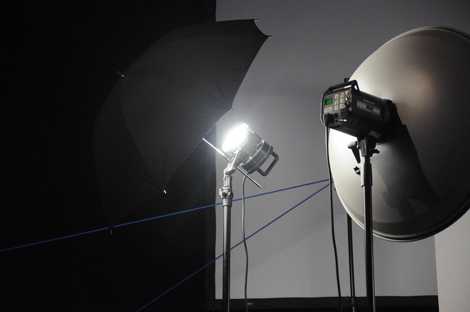 Light, Photostudio, Black And White