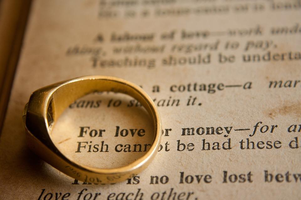 Wedding Ring, Wedding, Love Or Money, Phrase, Marriage
