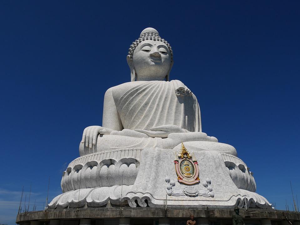 Thailand, Phuket, Big Buddha, Statue, Sculpture, Travel