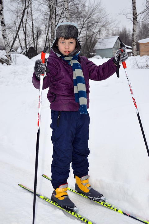 Skiing, Schoolboy, Skier, Trails, Physical Training