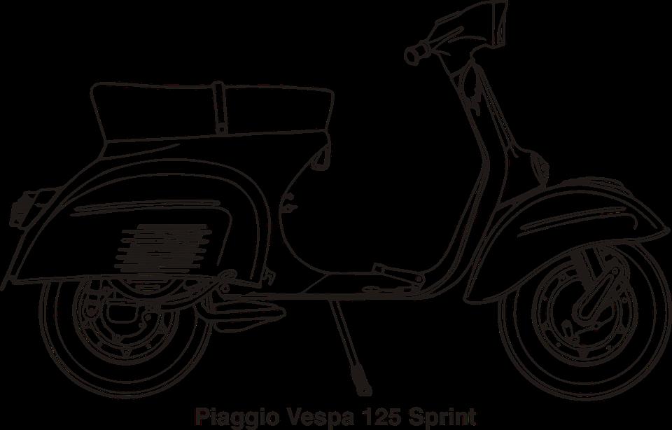 Motorcycle, Vespa, Piaggio, Italy