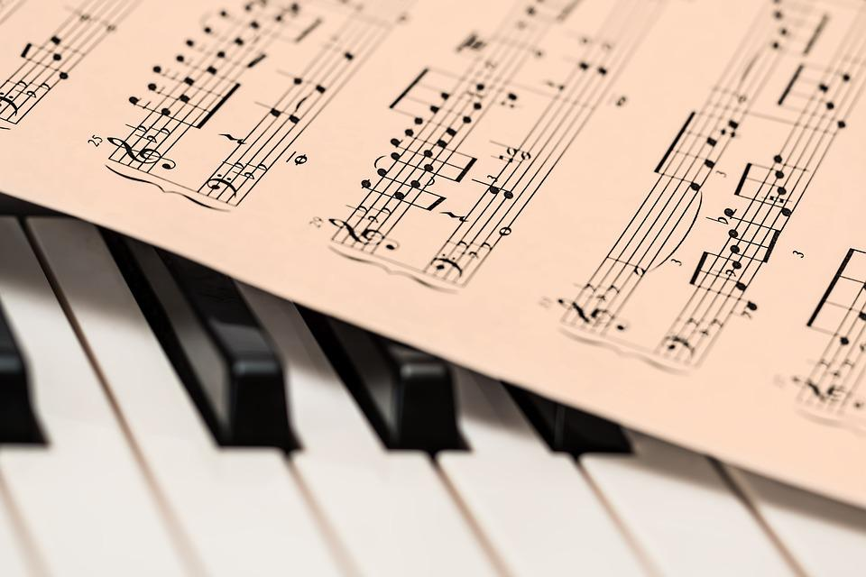 Piano, Music Score, Music Sheet, Keyboard, Piano Keys
