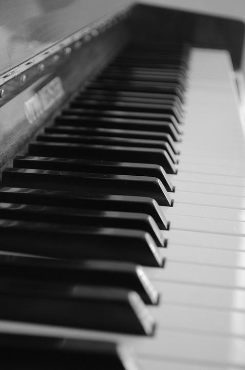 Piano, Piano Keyboard, Sheet Music, Keyboard Instrument