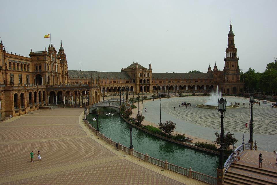 Piazza Di Spagna, Monument, Seville, Spain